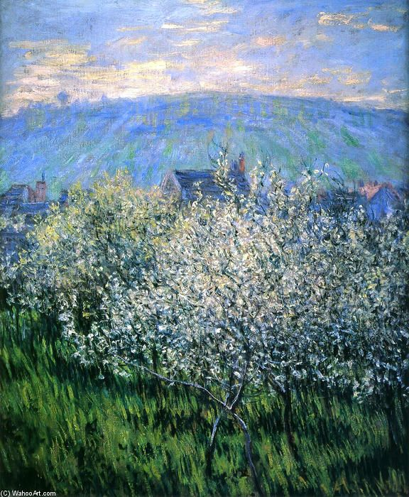 Plums Blossom, 1879 by Claude Monet (1840-1926, France)