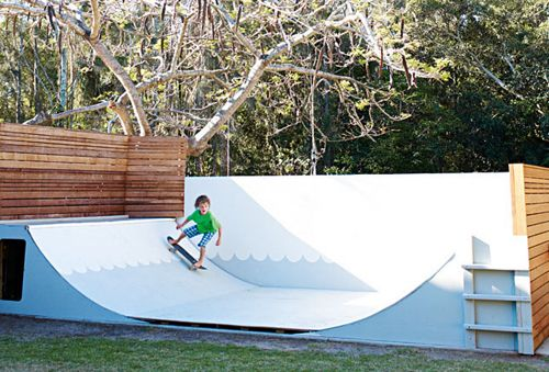 We have always said if our backyard was big enough we would build a skate ramp in it.