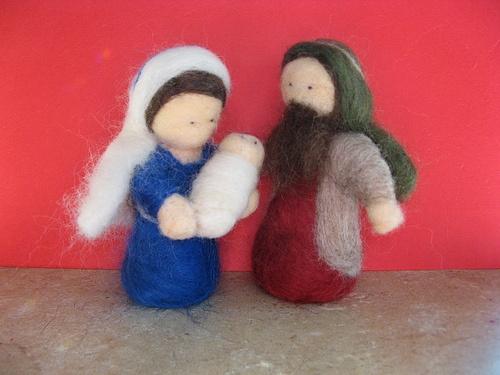 Needlefelted Nativity Set