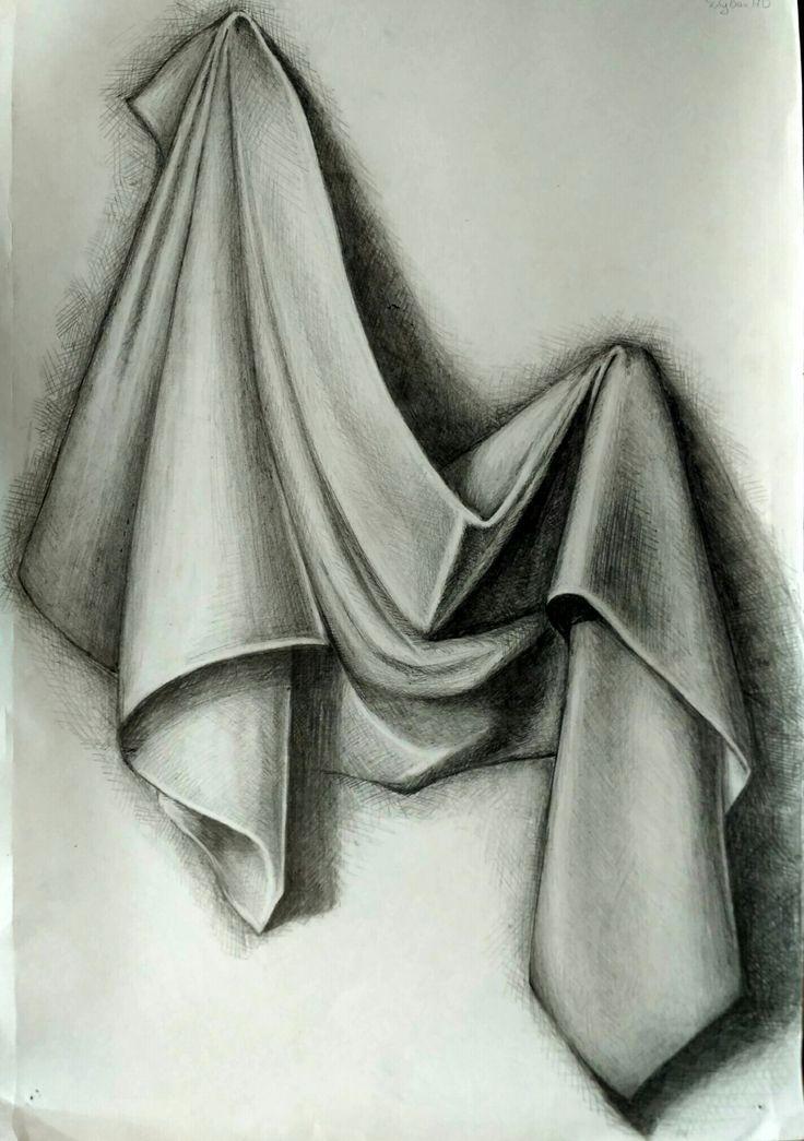 рисунки карандашом на ткани фото средние