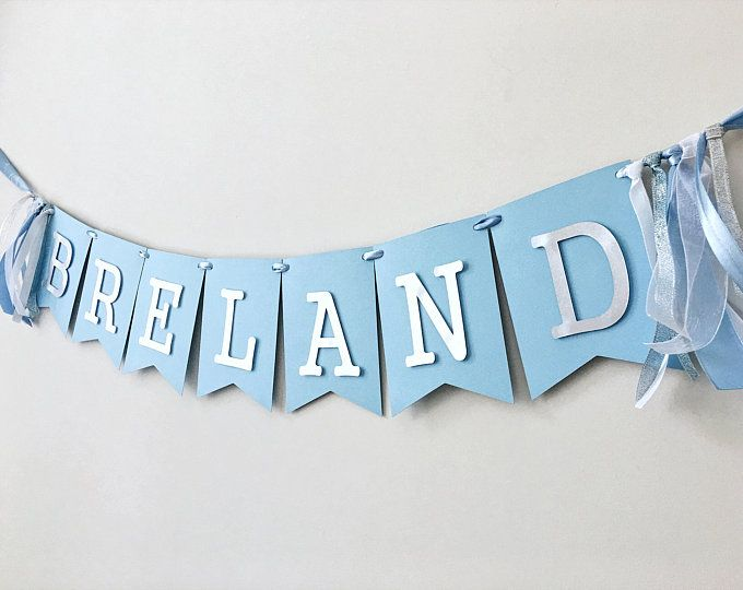 Personalised Baby//Child PHOTO First Birthday Bunting//Banner Party Decor Blue