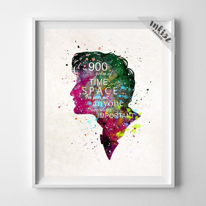 Doctor Who Print. Prices from $9.95. Available at www.InkistPrints.com #DoctorWho #Quote