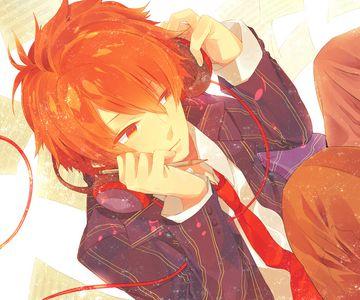 anime guy with orange hair google search anime style