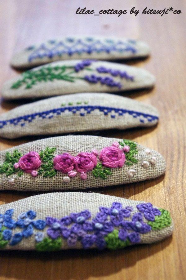 刺繡のパッチンピンの作り方|刺繍|編み物・手芸・ソーイング|ハンドメイド・手芸レシピならアトリエ