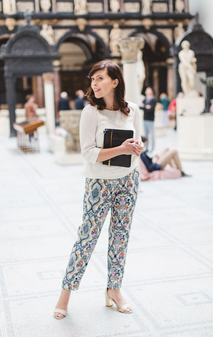 @wishwishwish wears the Shoreditch trouser - part of the V&A Collection.