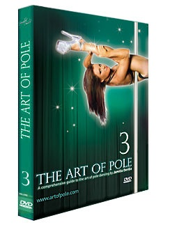 Jamilla DeVille's Art of Pole 3 presents Intermediate Level spins, climbs, and holds off the pole, as well as preliminary inverted positions and hangs.  #artofpole3 #artofpoledvd