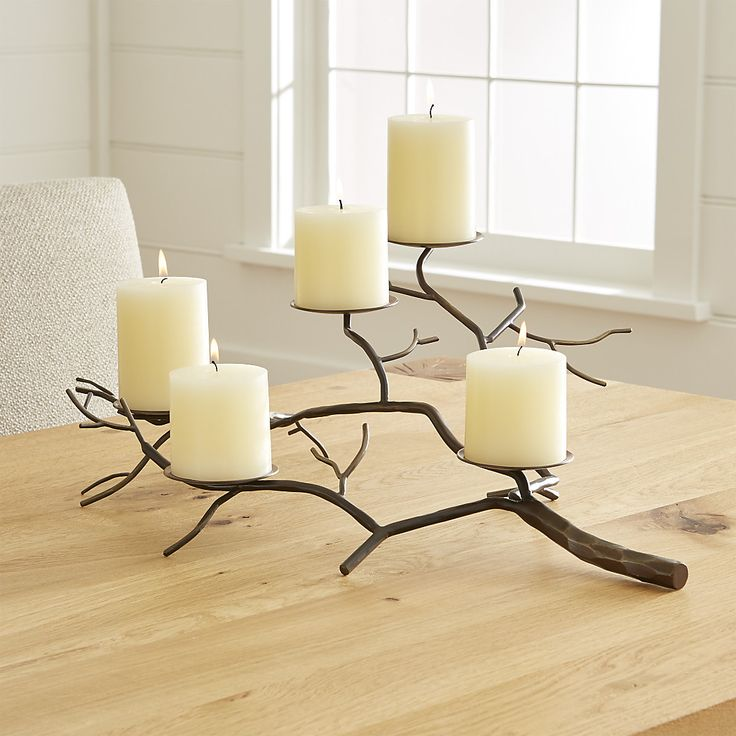 Branch Brass Pillar Candle Holder Reviews Crate And