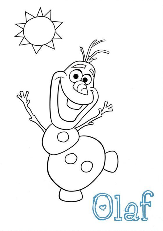 Frozen_Olaf_breakfast Food art Template-001 | Dye It Must ...