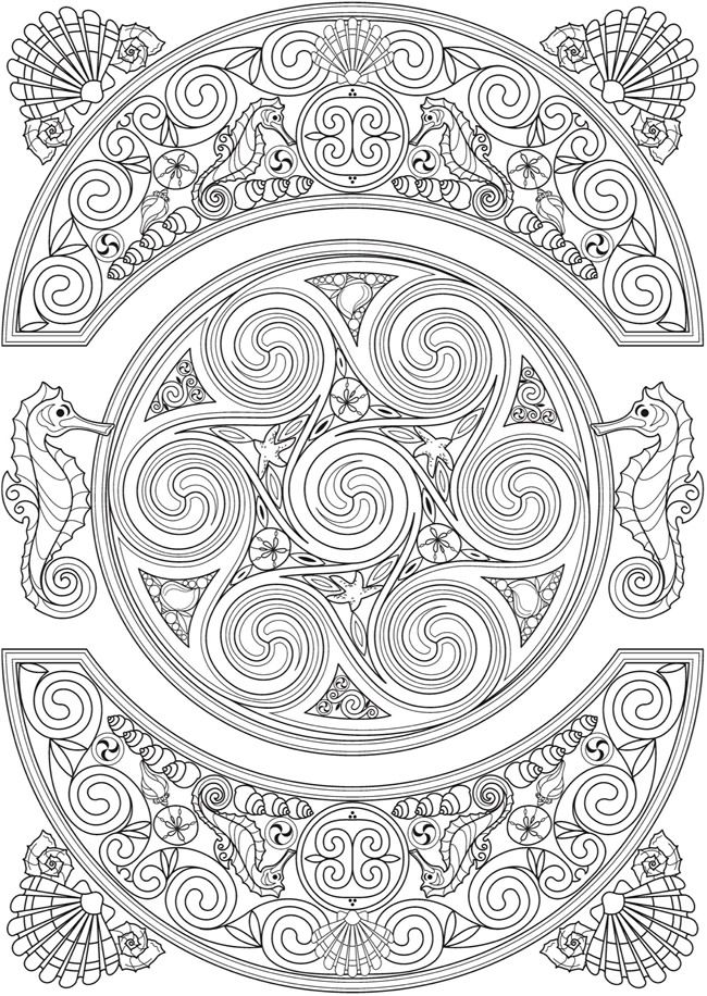 93 best Celtic Coloring Pages for Adults images on Pinterest ...