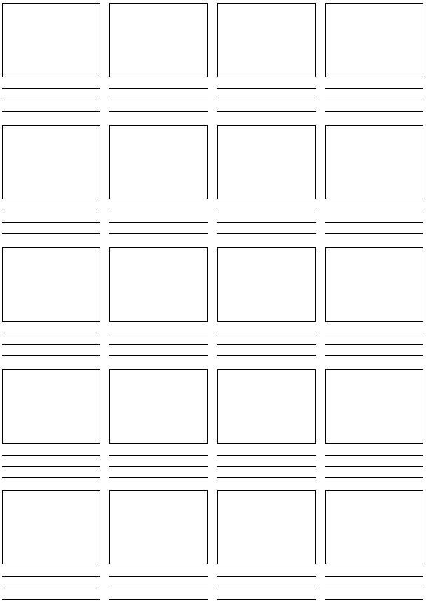 Printable Picture Story | Print the sheet... begin drawing simple sketches of your story.