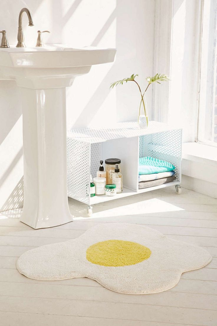 Sunny Side Up Bath Mat Urban outfitters, Bath mats and