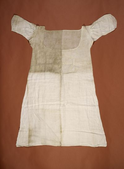 Surviving chemise worn by Marie Antoinette while in prison. Eye For Design: Marie Antoinette, Life At The Court Of Versailles