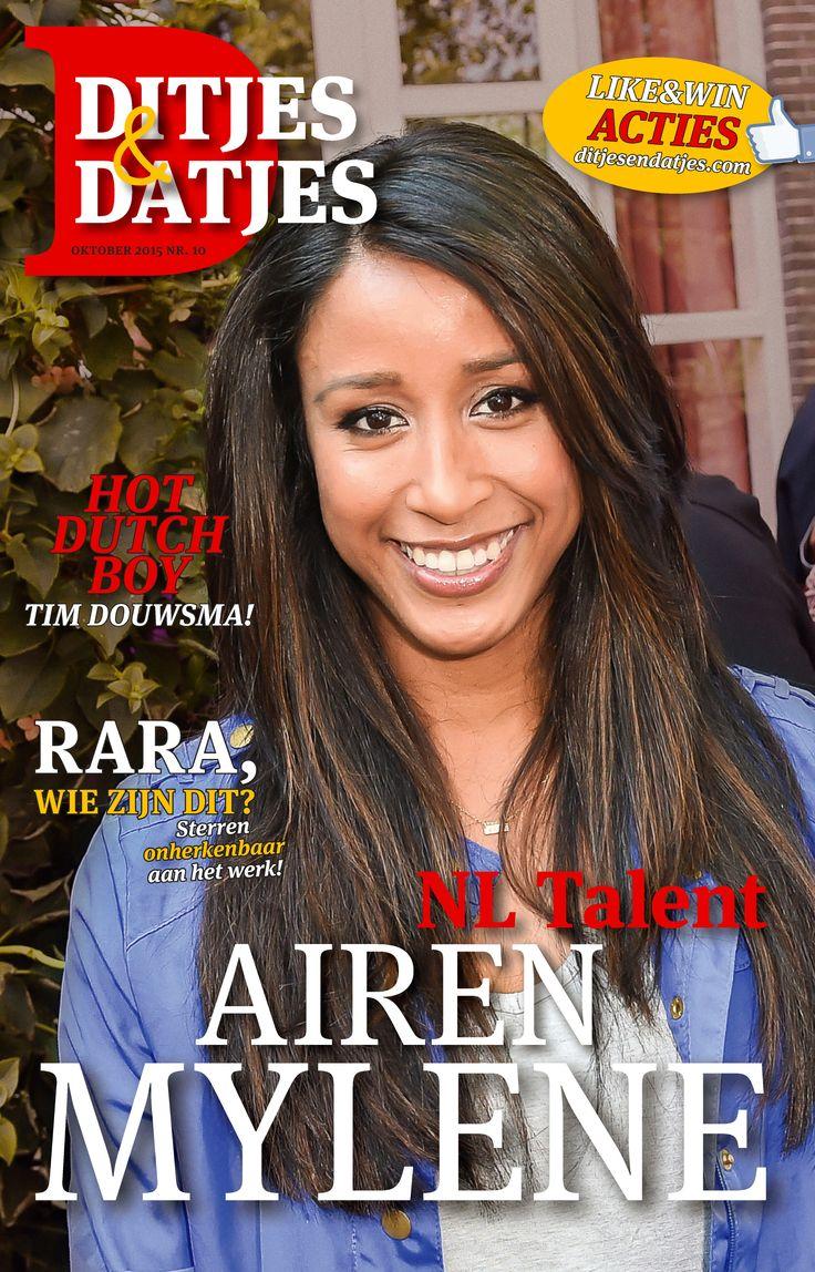 Cover Ditjes & Datjes 10, met Nederlands talent: Airen Mylene. #DitjesDatjes #Airen #Mylene #AirenMylene #HotDutchBoy #TimDouwsma