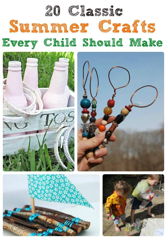 20 Summer Crafts for kids #parenting #kidscrafts #crafts
