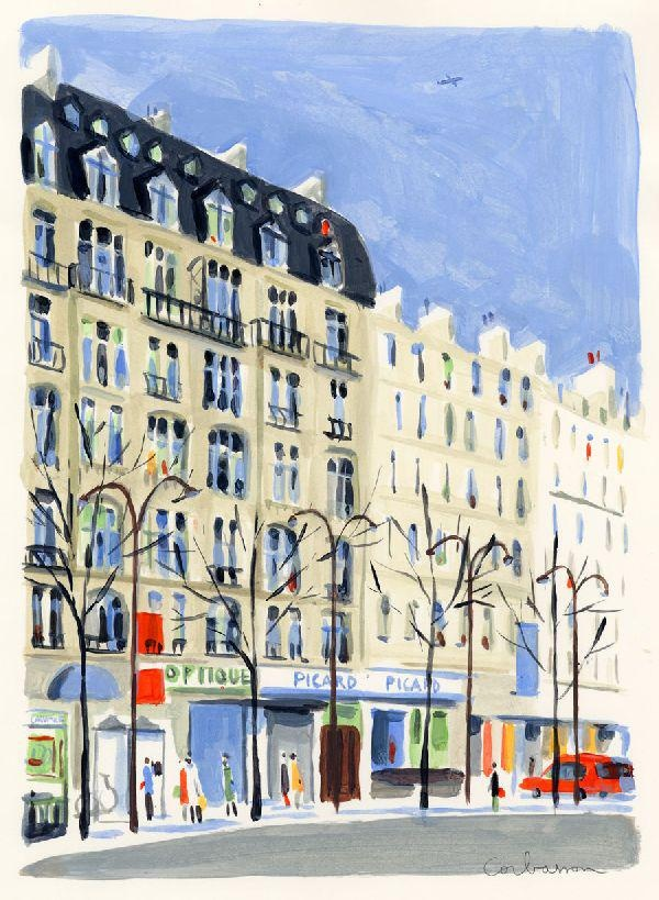 Dominique Corbasson, Boulevard Beaumarchais - Picard