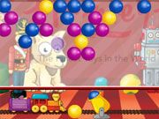 Free Online Puzzle Games, Enter the Magic Toy Factory and create new toys just by matching similar colored bubbles together!  Launch each bubble and make sure to do it accurately because the ceiling will lower over time!  Make as many toys as you can!, #bubble shooter #bubble