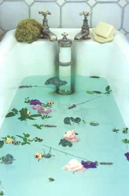 A Healing Detox Spa Bath: Mix 2 cups of Epsom salt 1/2 cup of raw apple cider vinegar, 1/4 cup of baking soda and a few drops of lavender essential oil in a warm tub and soak your cares away.