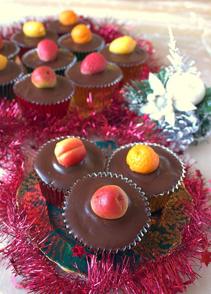 Tunis Cupcake. Mini versions of McVities classic Tunis Cake - a Madeira cake alternative to Christmas cake.