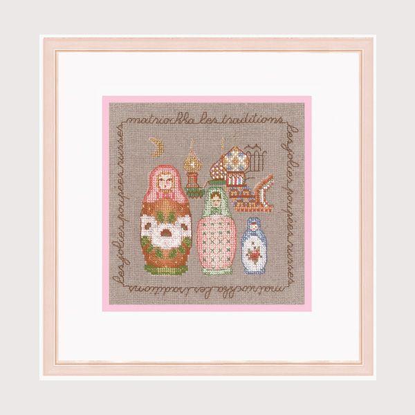 Matriochka Pastel. Kit point de croix, point compté. Réf. 2275