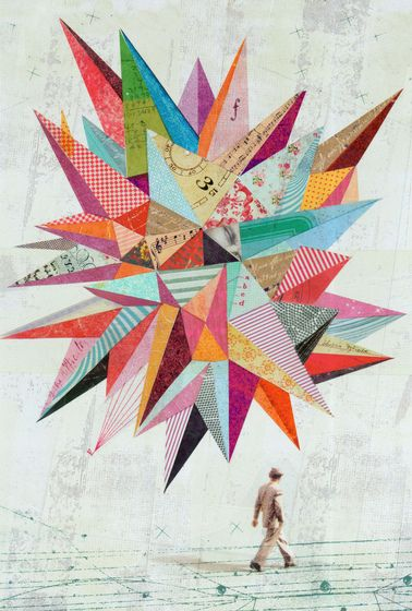 "Collage - Previous pinner said ""Would love to use this idea to create a fab quilt. Perfect use for brightly-colored fabric scraps."""