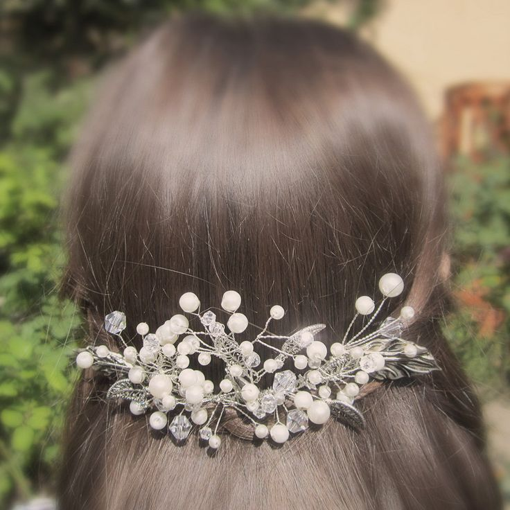 Mary | Bridal hair comb wedding hair jewelry bridal hair accessory wedding hair comb bridal headpiece wedding hair jewelry by RoyalBrides on Etsy