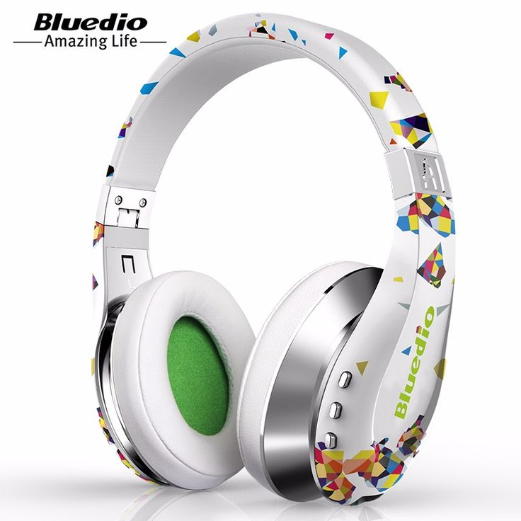 Bluedio A (Air) Fashionable Wireless Bluetooth Headphones with Microphone, HD Diaphragm, Twistable Headband, 3D Surround Sound