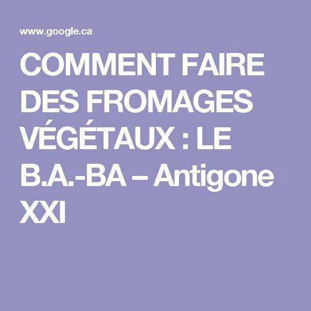 COMMENT FAIRE DES FROMAGES VÉGÉTAUX : LE B.A.-BA – Antigone XXI