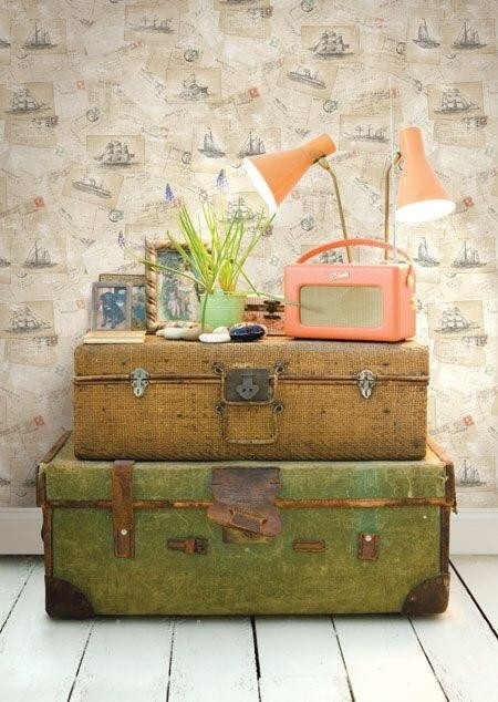 Railroad Towne Antique Mall, 319 W 3rd St, Grand Island, NE, 308-398-2222, has Vintage suitcases for your decorating needs