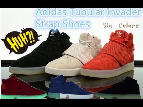Adidas Tubular Invader Strap Shoes review#AdidasTubularInvaderStrap  #DarkGrey # GreyRed #DarkBlue #Grey