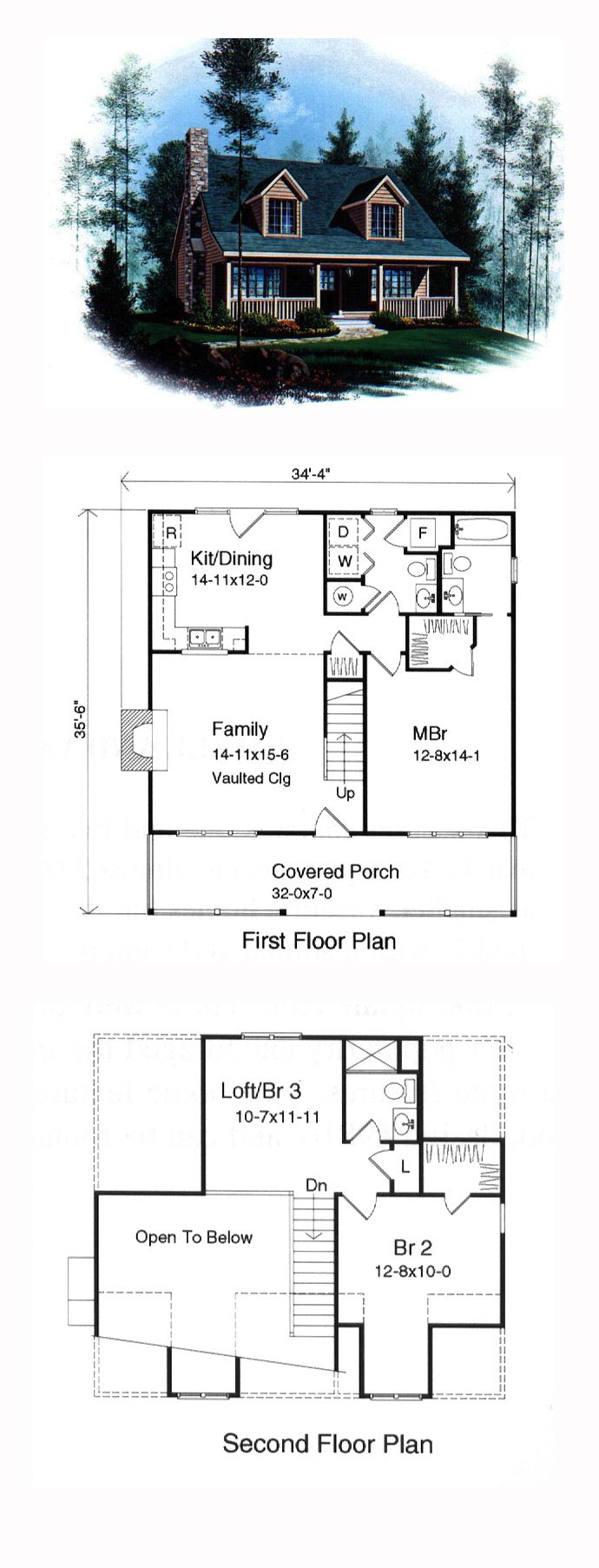 Cape cod house plans for Cape cod blueprints