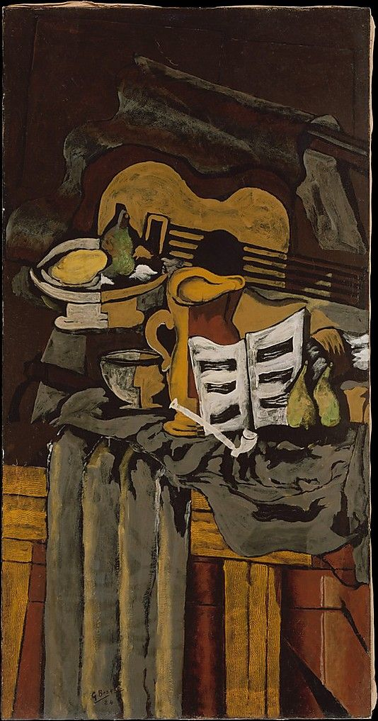 Still Life with a Guitar, Georges Braque  (Argenteuil 1882–1963 Paris), 1924, Oil on canvas. The Metropolitan Museum of Art, NY.