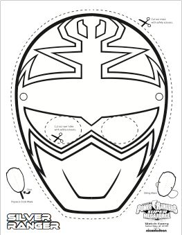 Super Mega Power Rangers Printable Coloring Masks
