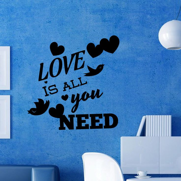 Love Message Wall Decal  Love is all you need wall mural is for your living room walls to make your home look artistic and beautiful. Buy this beautiful wall mural to decorate your home with artistic wall murals. This wall decal will go perfect with the decor of your living room. This wall mural is available in different colors and sizes. When ordered this wall decal will be shipped at your doorstep in 2 business days.