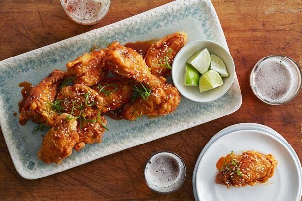 Korean Style Chicken Wings Recipe. #chickenrecipes #koreanrecipes