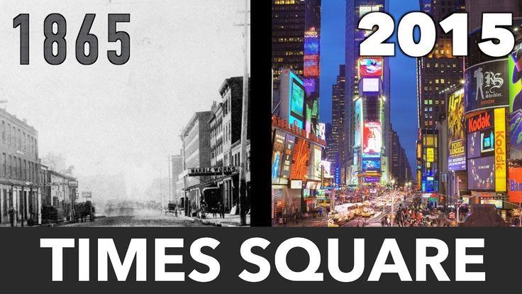 150 лет за одну минуту Таймс Сквер, Нью Йорк