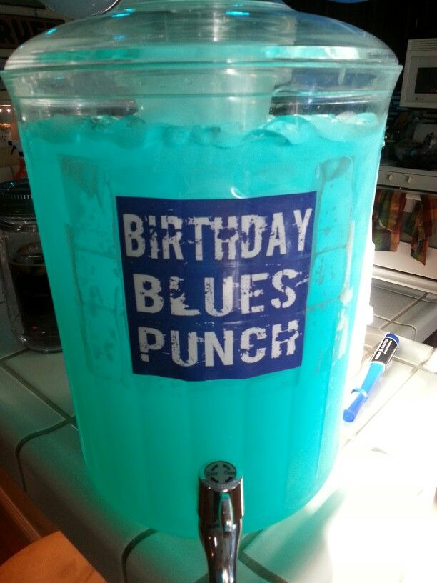 A crowd pleaser.... 1 jug blue Hawaiian punch (polar blast). 1 packet crystal light lemonade. 1 handle (big bottle) of whipped pinnacle vodka. 1 ten pound bag of ice. Mix and enjoy.  Careful this stuff sneaks up on you!