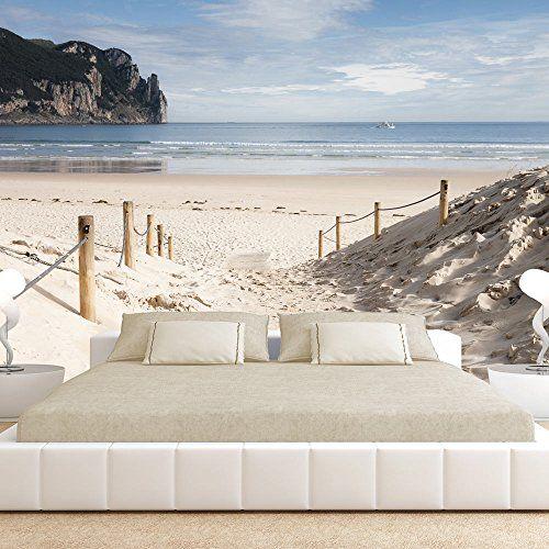 Si es amante de la playa, este fotomural adhesivo es lo más parecido, muestra una entrada a la playa, con arena blanca y una vista preciosa al mar, con olea