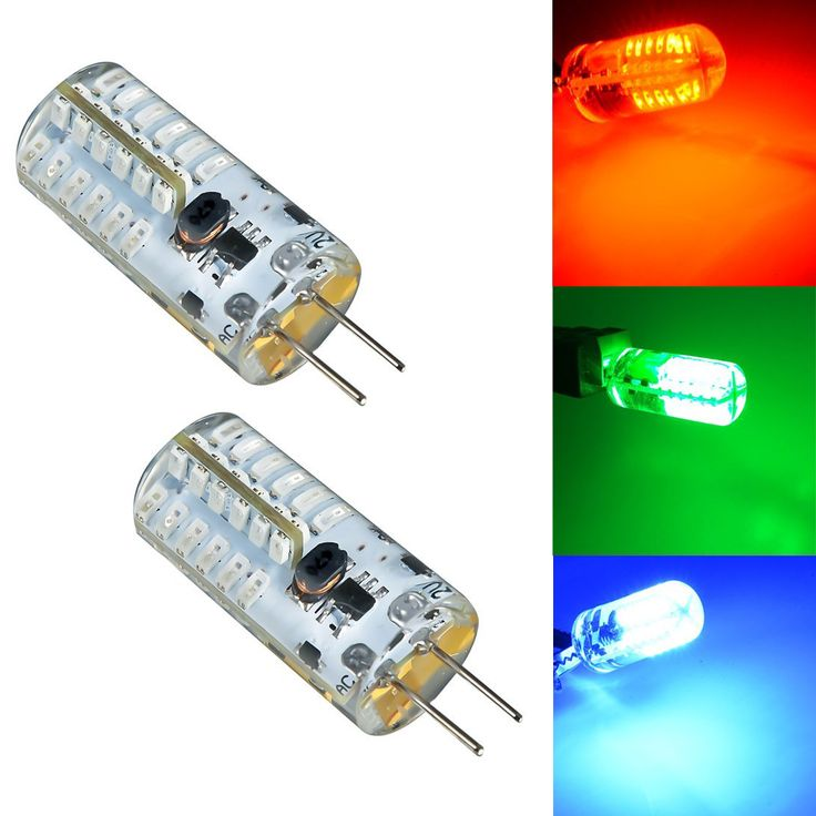 how to make colored light bulbs led