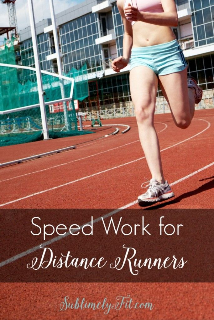 Want to become a faster runner? Read about speed work for distance runners. Great speed workouts for the 5K to the marathon!