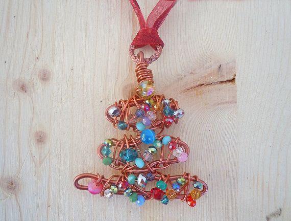Ciondolo per il pranzo di Natale, ciondolo albero  Bohemian, ciondolo di Natale…