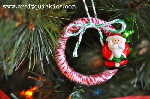 Baker's Twine Santa Wreath Ornament