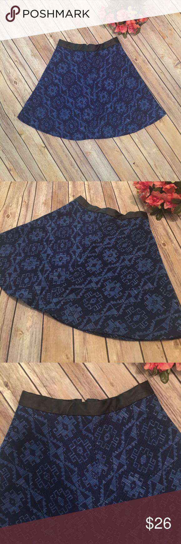 "Blue Zara Tribal Print Skirt Blue Zara Tribal Print Skirt.  In excellent condition!  Waist 24"" Length 17"" Zara Skirts Mini"