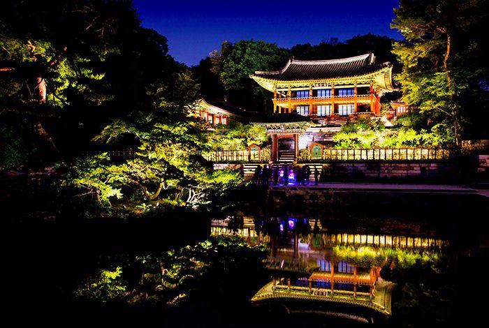 Photo: Night view of the Changdeokgung Palace Huwon