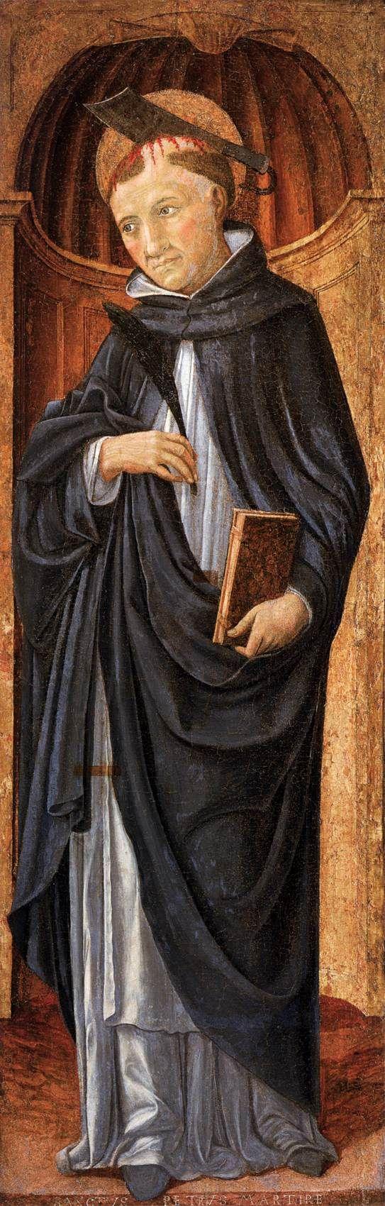 Веккьетта. St Peter the Martyr. 1470s Panel, 195 x 105 cm Collezione Vittorio Cini, Venice.