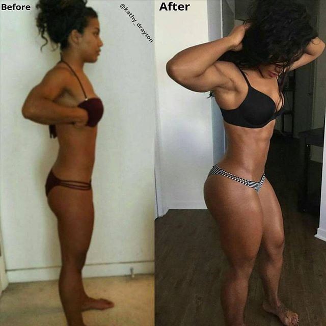 dontletthemcallyouskinny:  @Kathy_Drayton Weight Gain Before and After!