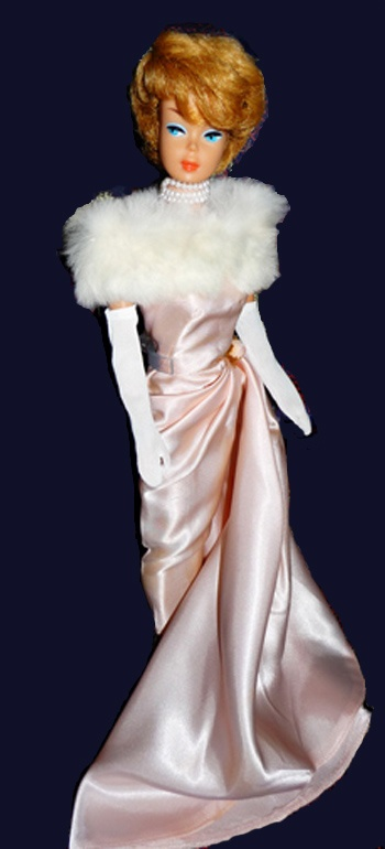 The dress and the stole, I am speechless: orig. Pinners - Bubble Cut Barbie in Enchanted Evening