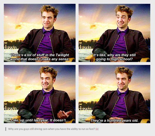 robert pattinson hates twilight | Featured Tumblr: Robert Pattinson Hates His Life and Also Twilight and ...