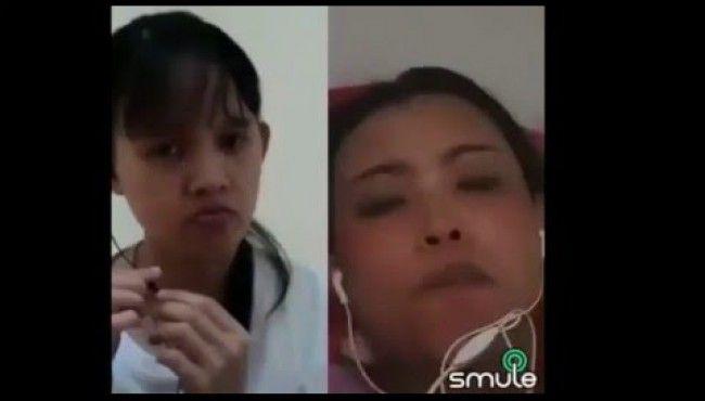 [Video] Sambil Bersetubuh, Wanita ini Duet Karaoke Video Smule Sampai Ngos - ngosan