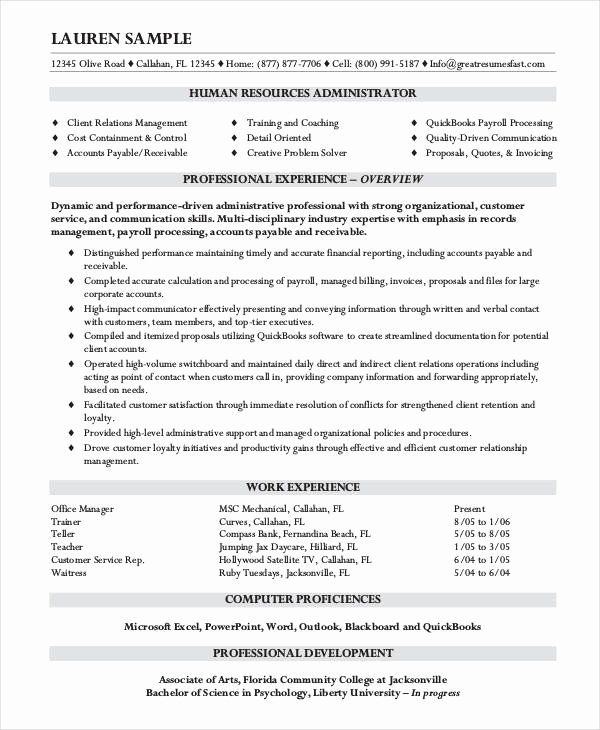Entry Level System Administrator Resume Inspirational 10 Hr Resume Templates Pdf Doc In 2020 Human Resources Resume Human Resources Job Resume Examples