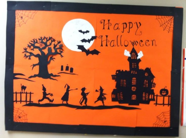 Halloween Bulletin Board at the nursing home.